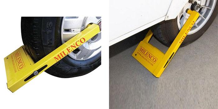 BARGAINS-GALORE CAR VAN VEHICLE TRAILER WHEEL CLAMP SAFE SECURITY LOCK