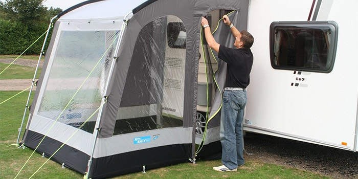 Kampa Rally 200 Caravan Porch Awning, Pearl Grey