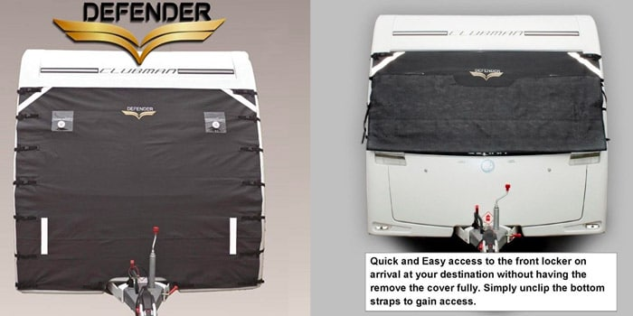 defender caravan front towing cover