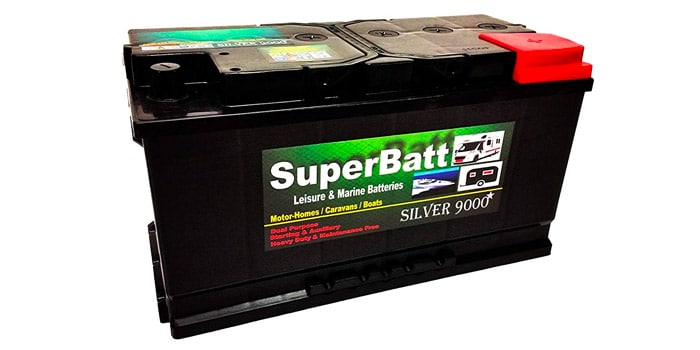 SuperBatt 12 Volts 110AH LM110 Deep Cycle Leisure Battery