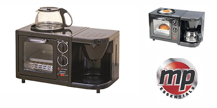 MP Essentials Low Voltage Caravan 3-in-1 Combination Cooking Oven, Grill & Coffee Maker