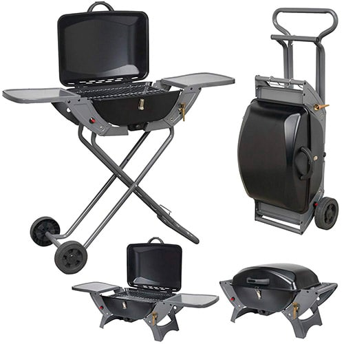 Crusader Products Folding Gas Barbecue Trolley