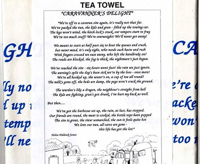 StarGifts Direct Funny Caravanner's Delight Tea Towel