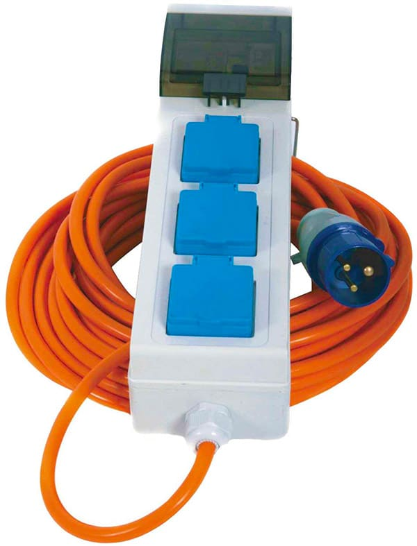 Crusader V762 Mains Supply Unit with 3 Sockets, 15 metres