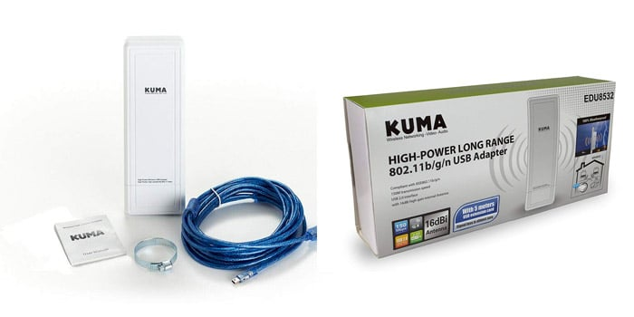 Kuma WiFi Antenna and Booster Power USB for Caravan Laptops and PCs
