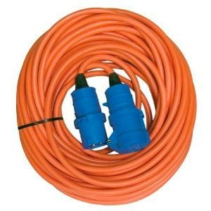 25 metres Orange Caravan Electric Hook Up Extension Cable