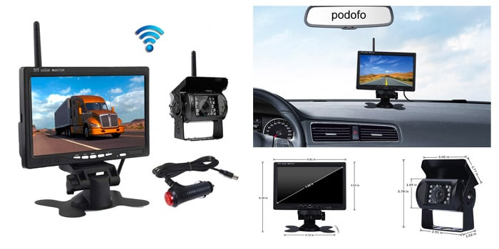 podofo Wireless Reverse Camera