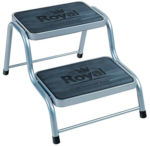 Royal Deluxe Double Caravan Steps, Grey
