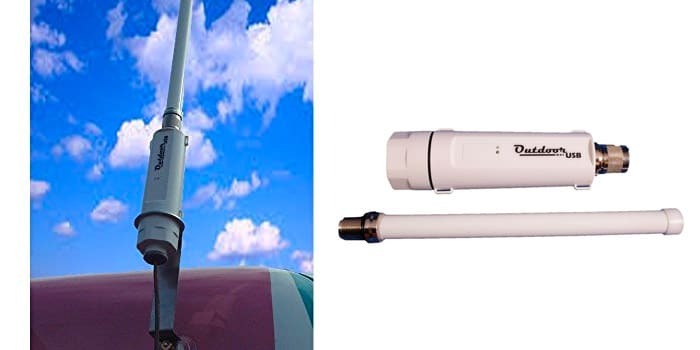 Solwise Outdoor USB With Antenna for Caravans and Motorhomes