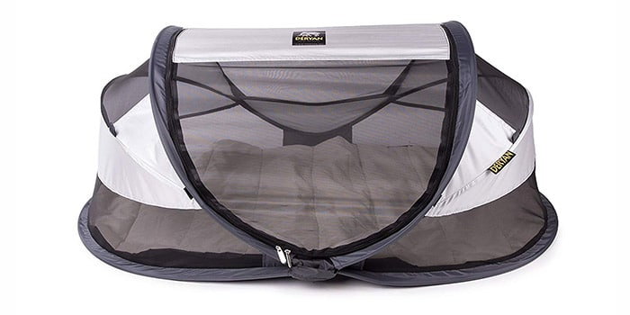 Deryan Travel Cot Luxe Silver