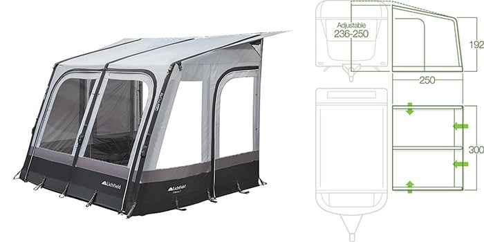 Lichfield Dakota Caravan Air Awning