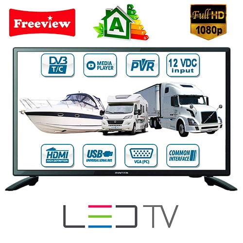 "Manta 22"" HDR LED Caravan TV / Freeview / USB PVR / Mixed DivX Player"