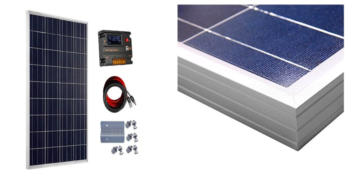 Eco-Worthy 100W Solar Panel for Caravans