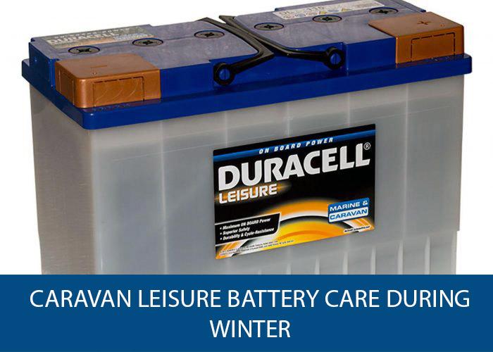 caravan leisure battery care during winter