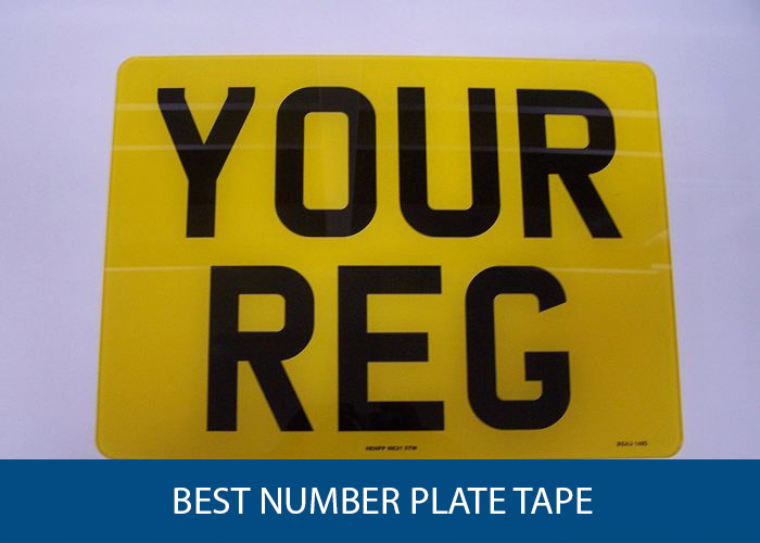 Car License Plate Fixings 5 Pack Number Plate Sticky Pads Adhesive Double Sided Stickers