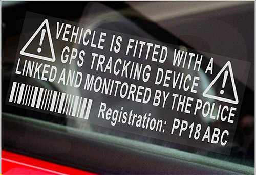 Dummy GPS Security Alarm Warning Window Sticker