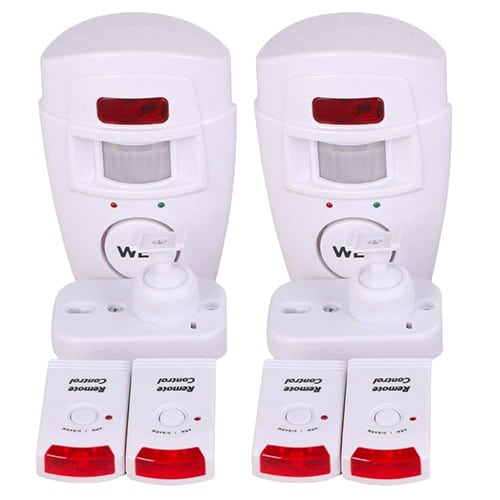 WER 2-Pack Wireless PIR Motion Sensor Alarm