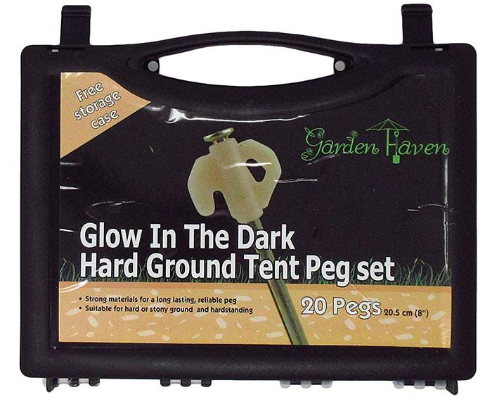 Garden Haven Set of 20 Heavy Duty Hard Ground Pegs