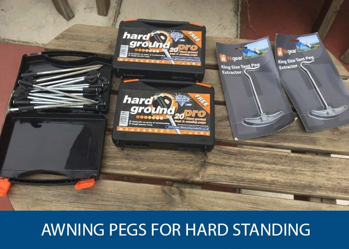 awning pegs for hard standing