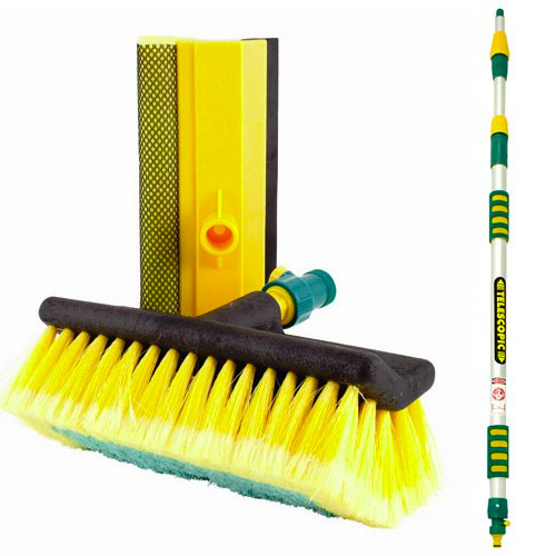 Heavy Duty Tri-Section Extending Wash Brush 3 Metre