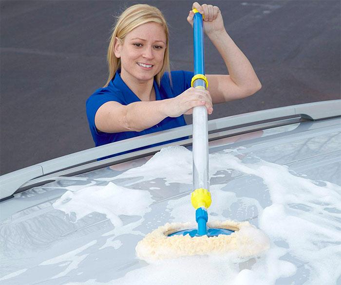 Fastest Car Caravan Cleaning Washing Brush Long Reach Handle