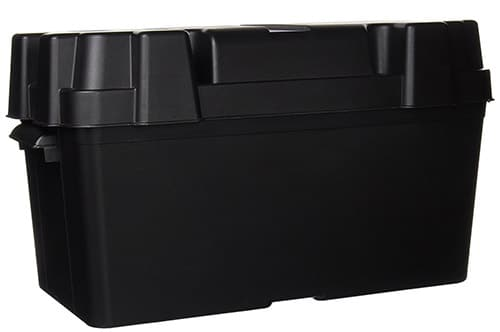 Pennine Caravan Black Plastic 110ah Leisure Battery Box
