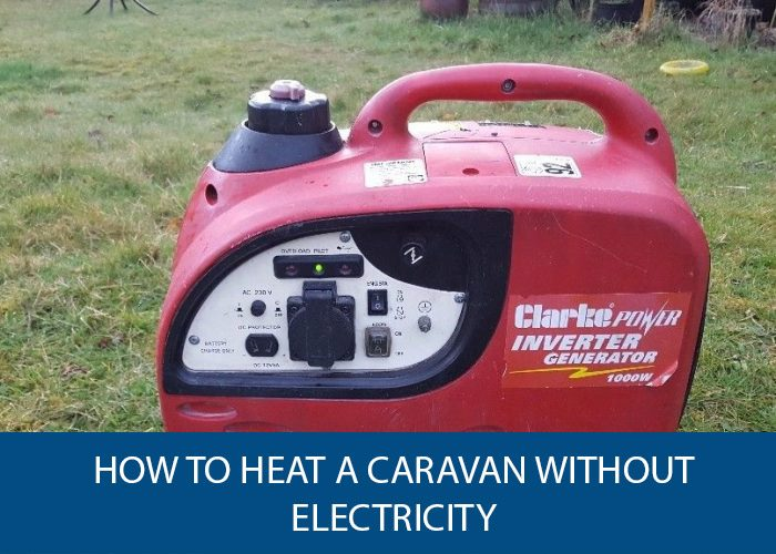 how to heat a caravan without electricity