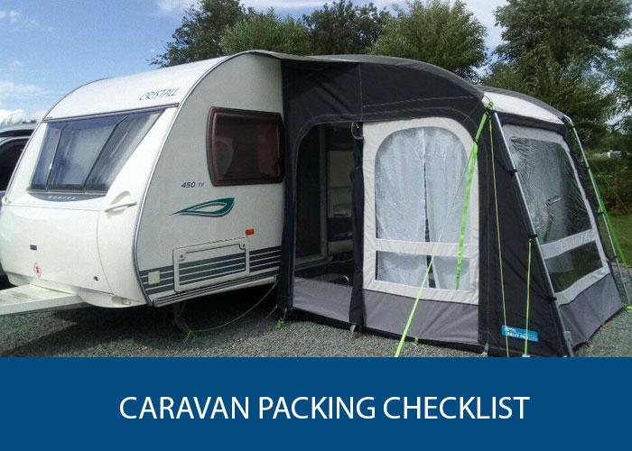 caravan packing checklist