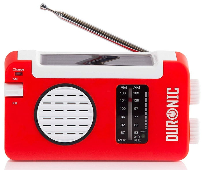 Duronic AM/FM Hybrid Windup/Solar Radio