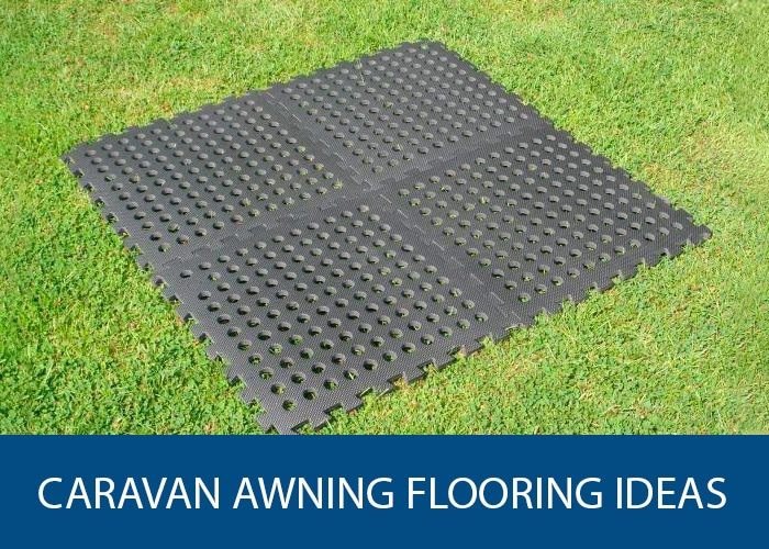 caravan awning flooring ideas