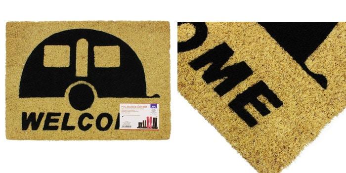JVL Caravan Welcome Coir PVC Backed Entrance Doormat