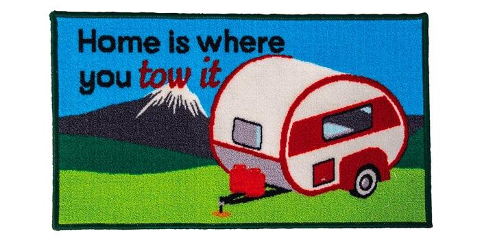 Home is Where You Park It Caravan Mat
