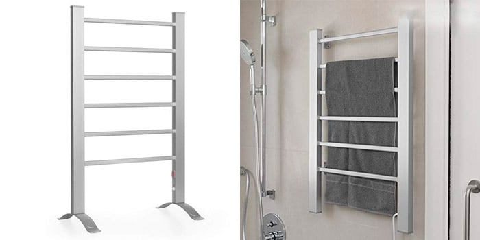 Caravan Six Bar Heated Towel Rail Sirocco