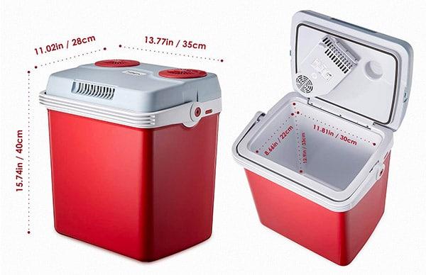Large 25L 12v Portable Cool Box from Tibek