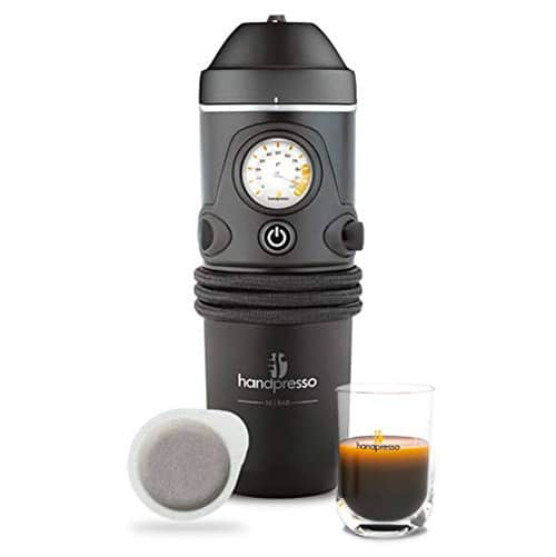 Handpresso 12v Coffee Maker for Ground Coffee and Pods