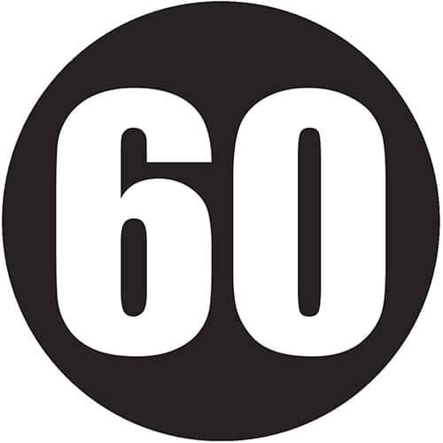 60mph sticker