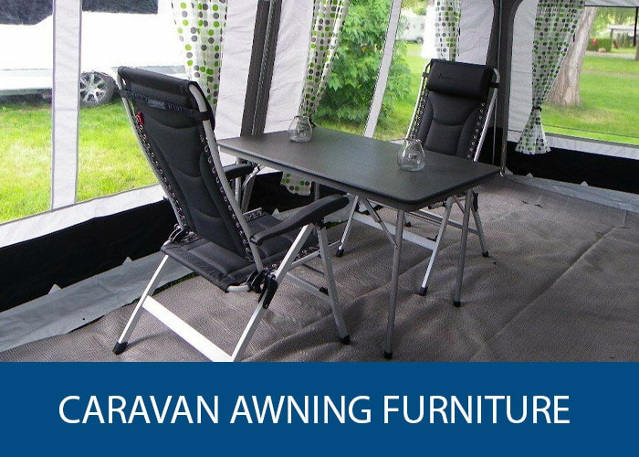 caravan awning furniture