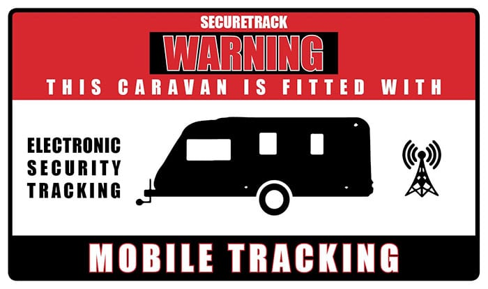 caravan tracking sticker