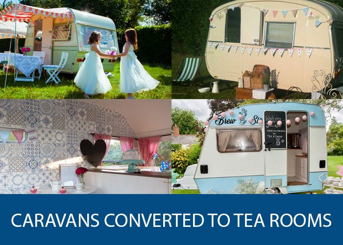 caravans converted to tea rooms