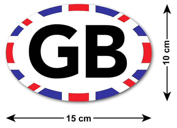 GB Union Jack Edge Sticker