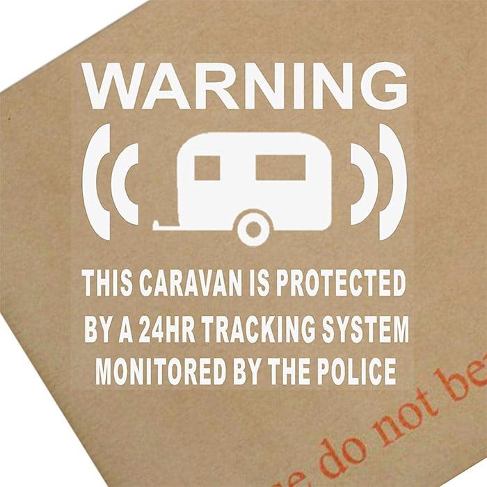 GPS Tracking System Device Warning Vinyl Sticker