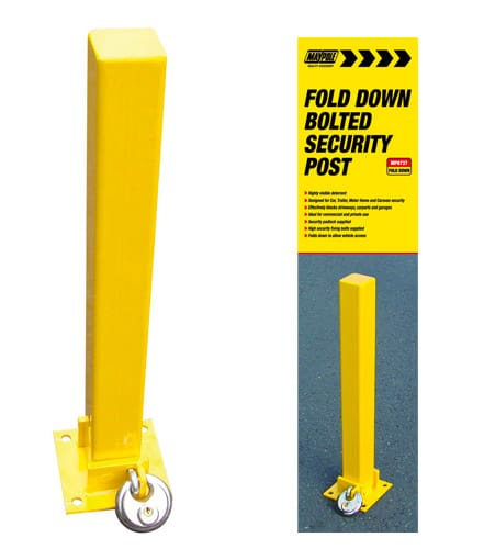 Maypole Bolt Type Fold Down Security Post