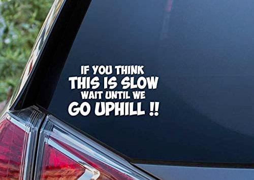 go slow caravan sticker