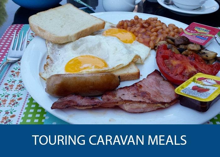touring caravan meals