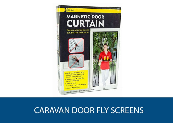caravan fly door screen