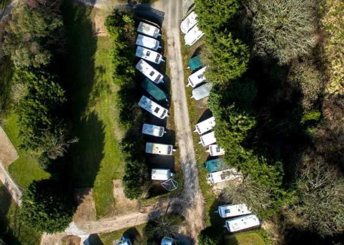 Caravan Storage at Trethiggey Holiday Park