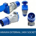Caravan External 240v Sockets