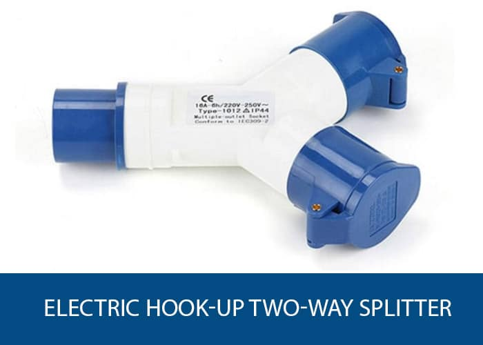 electric hook up 2 way splitter